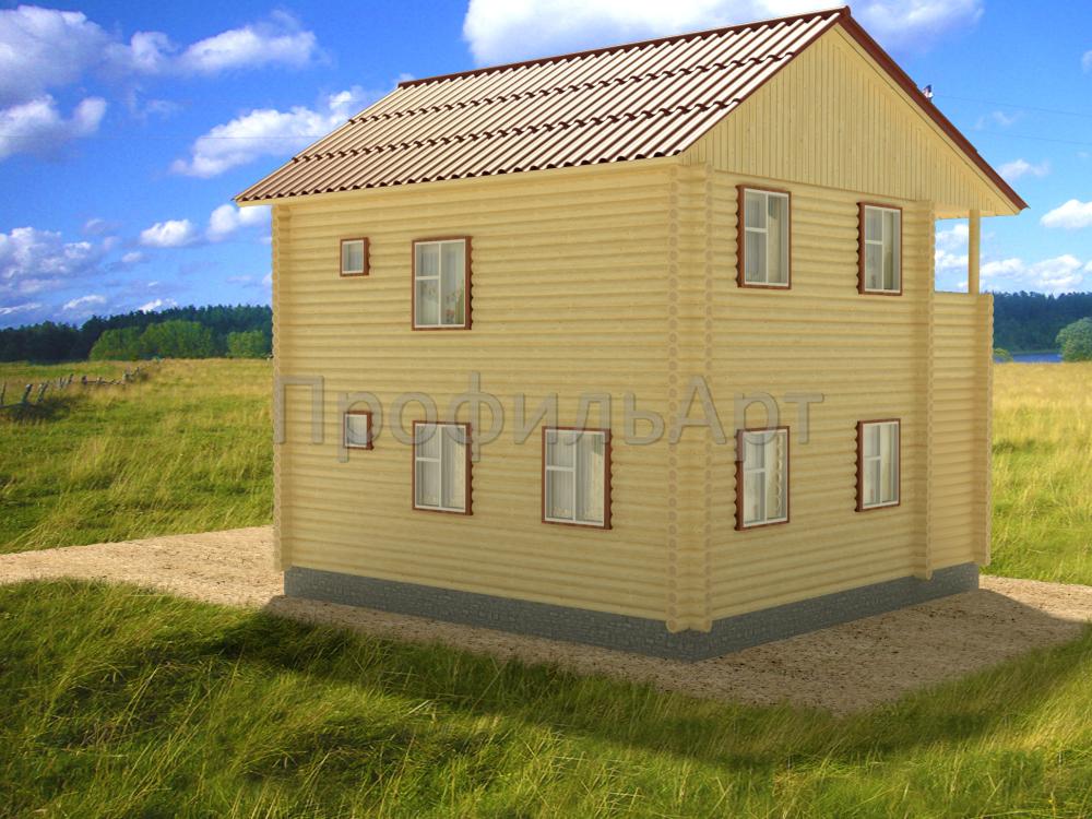Дома из оцилиндрованного бревна 8 на8