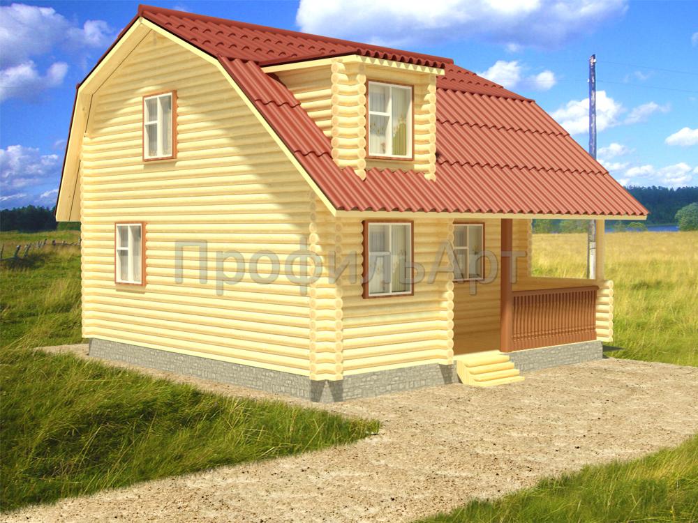 Дома из оцилиндрованного бревна 6 8