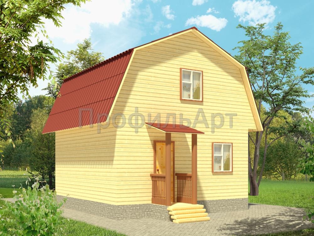 Проект дома из бруса 6 на 6 b1