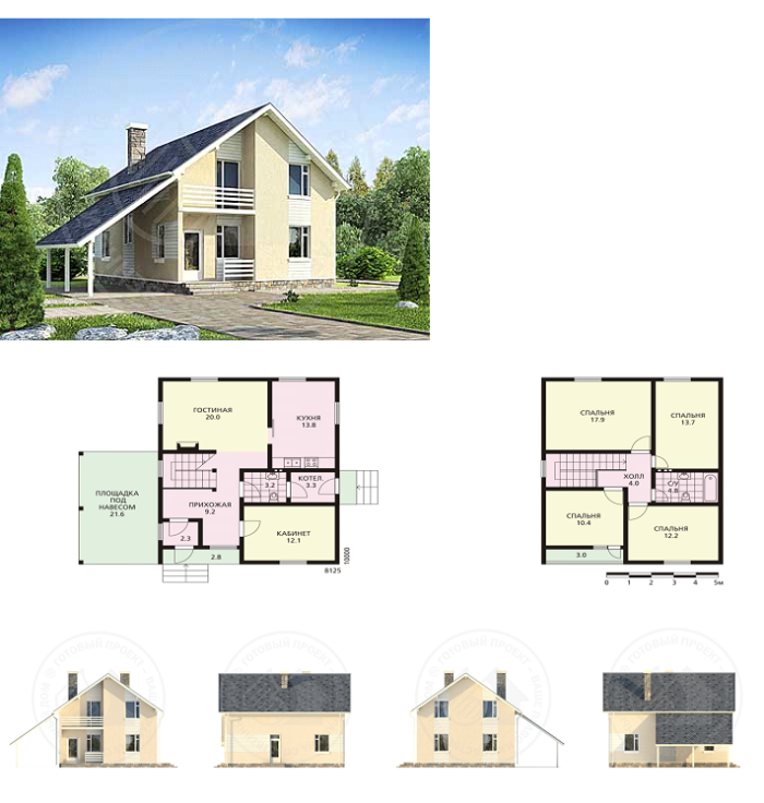 Дом Каркасный  проектирование и строительство каркасных домов